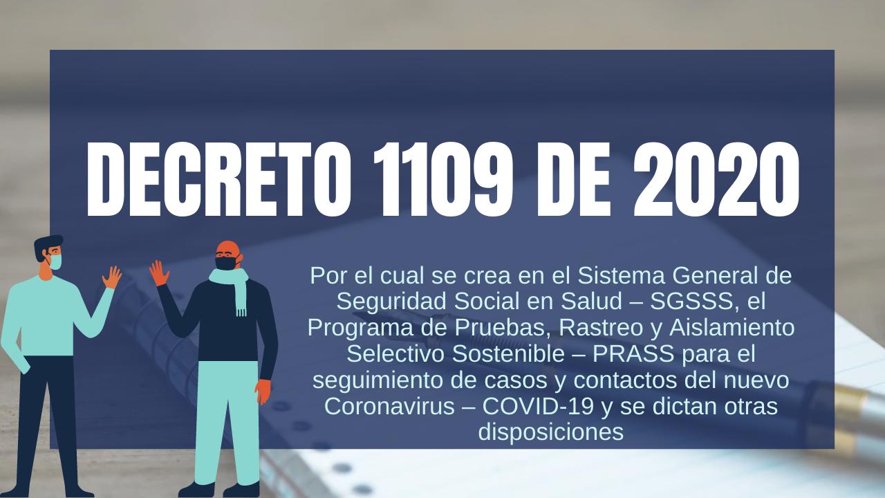 DECRETO 1109 DE 2020