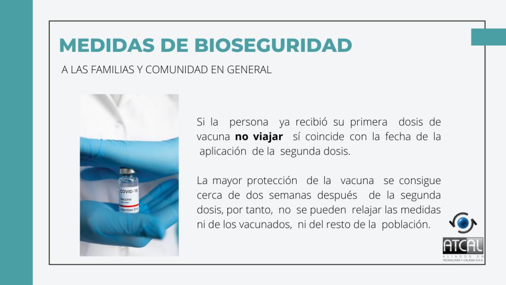 Medidas de Bioseguridad en Semana Santa 2021 para comunidad en general vacunación