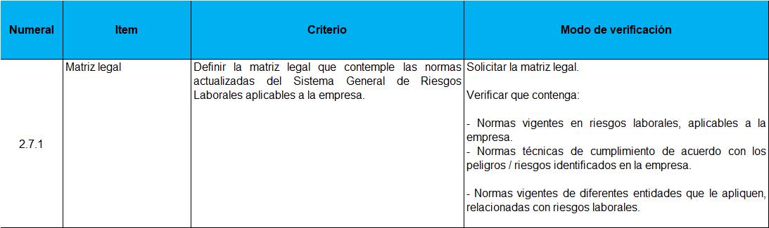 MRL CRITERIO 0312