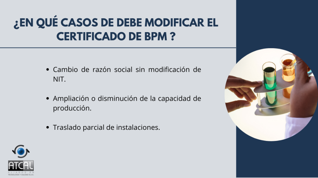 BPM en la elaboración de productos de uso veterinario RESOLUCIÓN 092288 DE 2021: Certificado de BPM