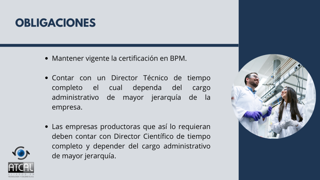 BPM en la elaboración de productos de uso veterinario RESOLUCIÓN 092288 DE 2021: Obligaciones