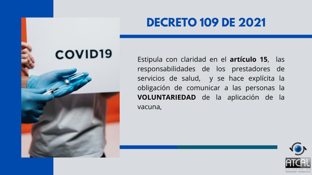Voluntariedad vacuna COVID19.