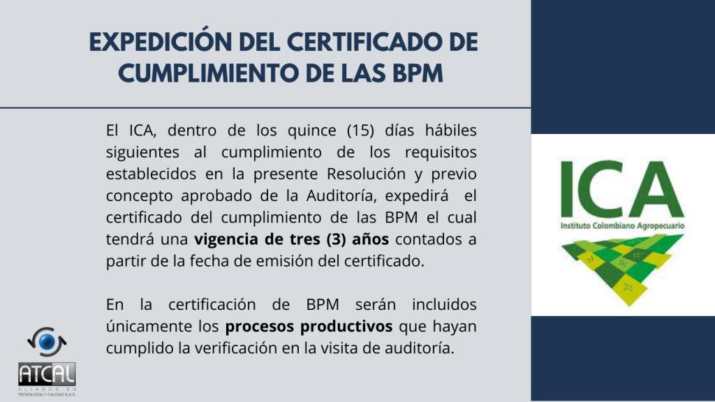 Expedición de certificado de cumplimiento BPM en la elaboración de productos de uso veterinario RESOLUCIÓN 092288 DE 2021: