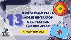 Plan de emergencias-Problemas en la implementación