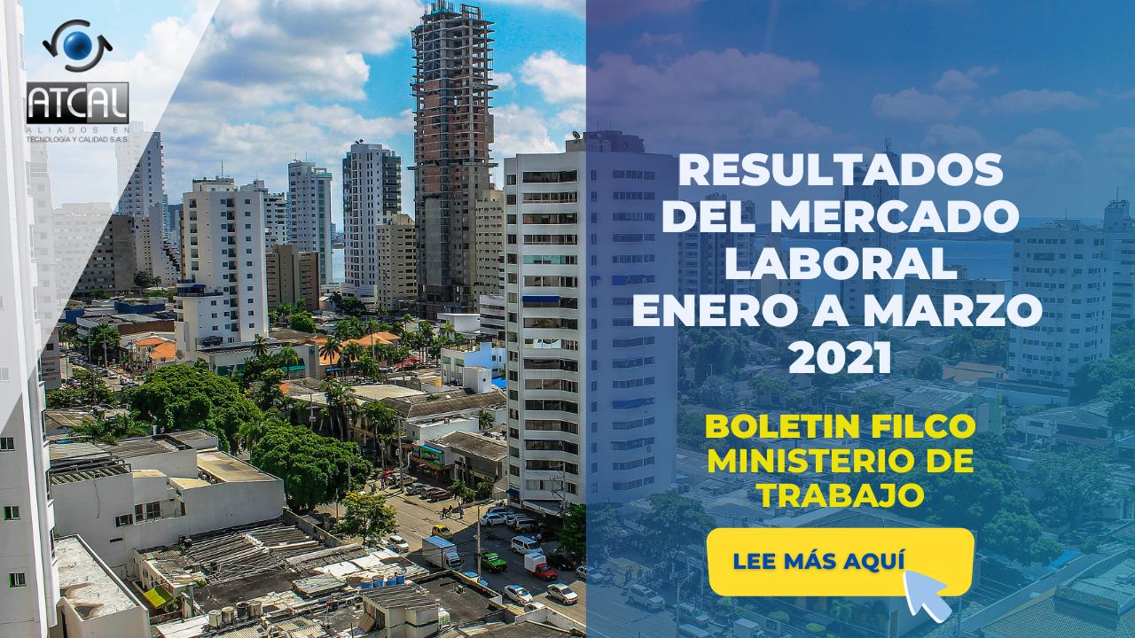 RESULTADOS DEL MERCADO LABORAL EN COLOMBIA- ENERO A MARZO DE 2021