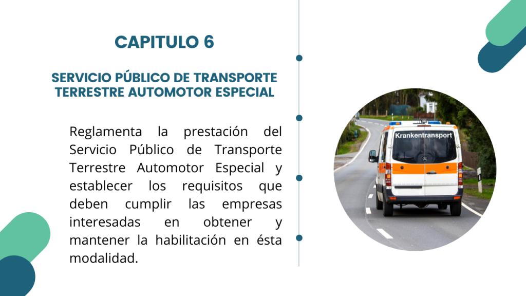 Estructura del Decreto Único del sector transporte- Libro 2 Capitulo 6
