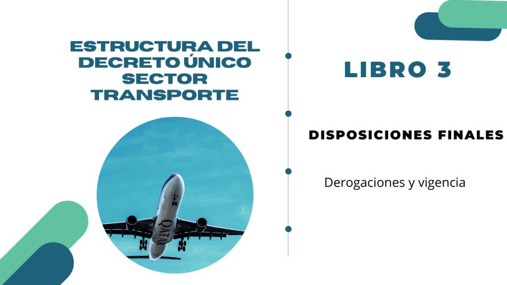 Estructura del Decreto Único del sector transporte- Libro 3