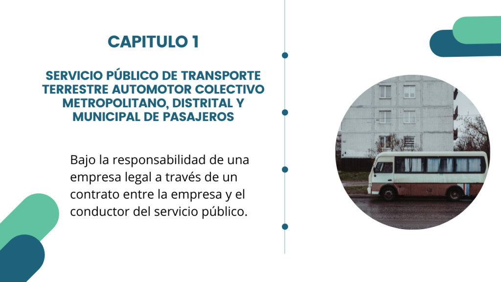Estructura del Decreto Único del sector transporte- Libro 2 Capitulo 1