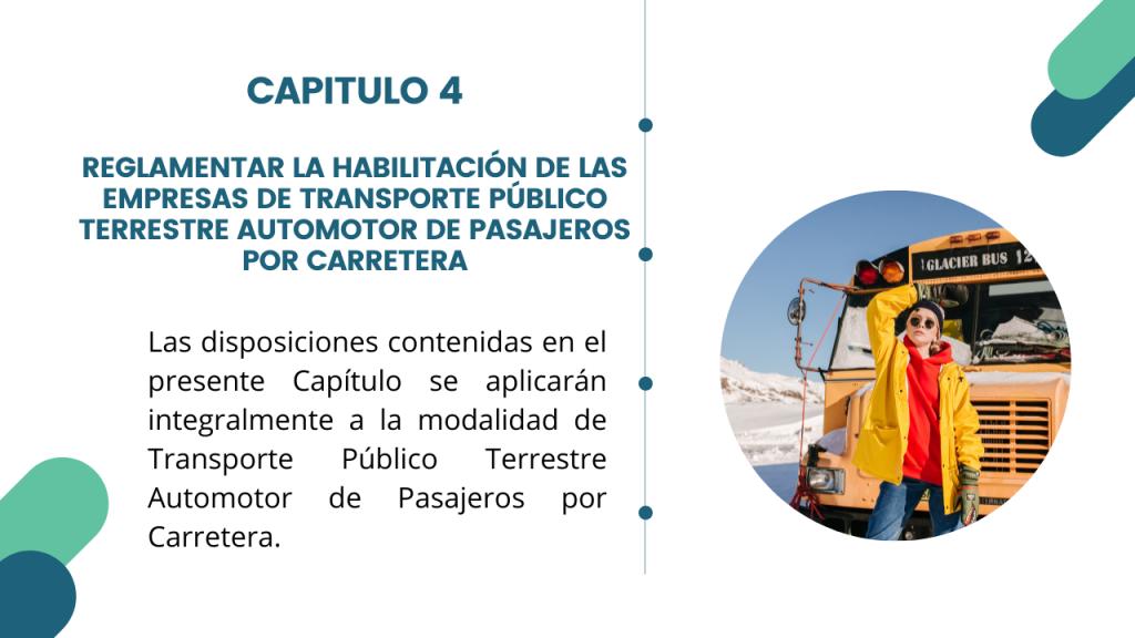 Estructura del Decreto Único del sector transporte- Libro 2 Capitulo 4
