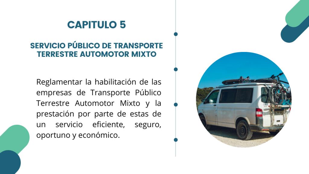 Estructura del Decreto Único del sector transporte- Libro 2 Capitulo 5