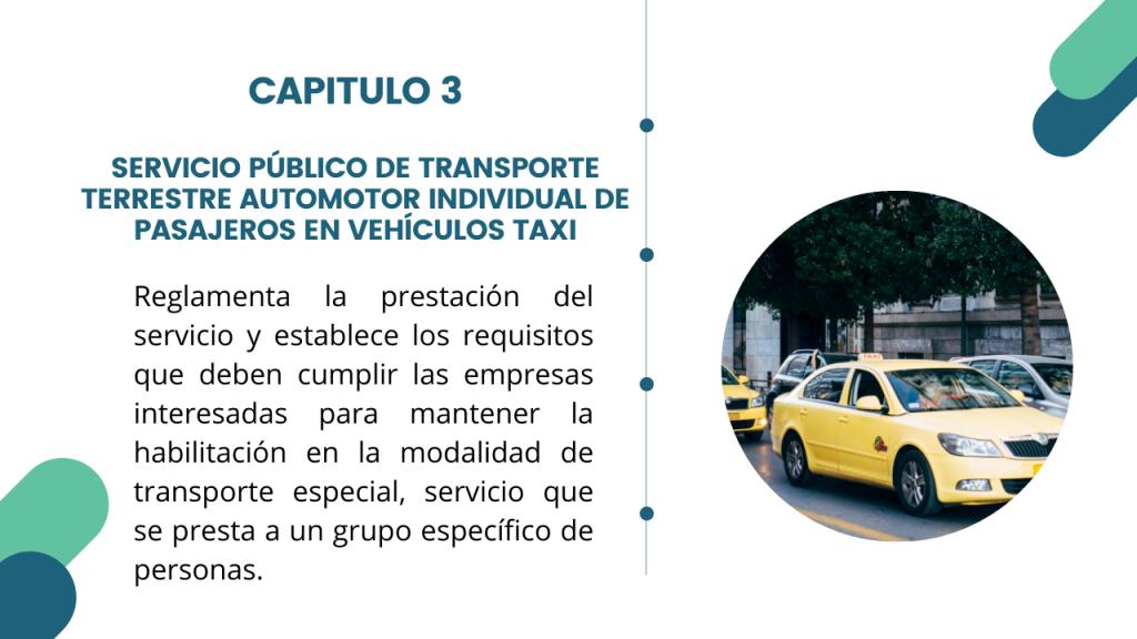 Estructura del Decreto Único del sector transporte- Libro 2 Capitulo 3