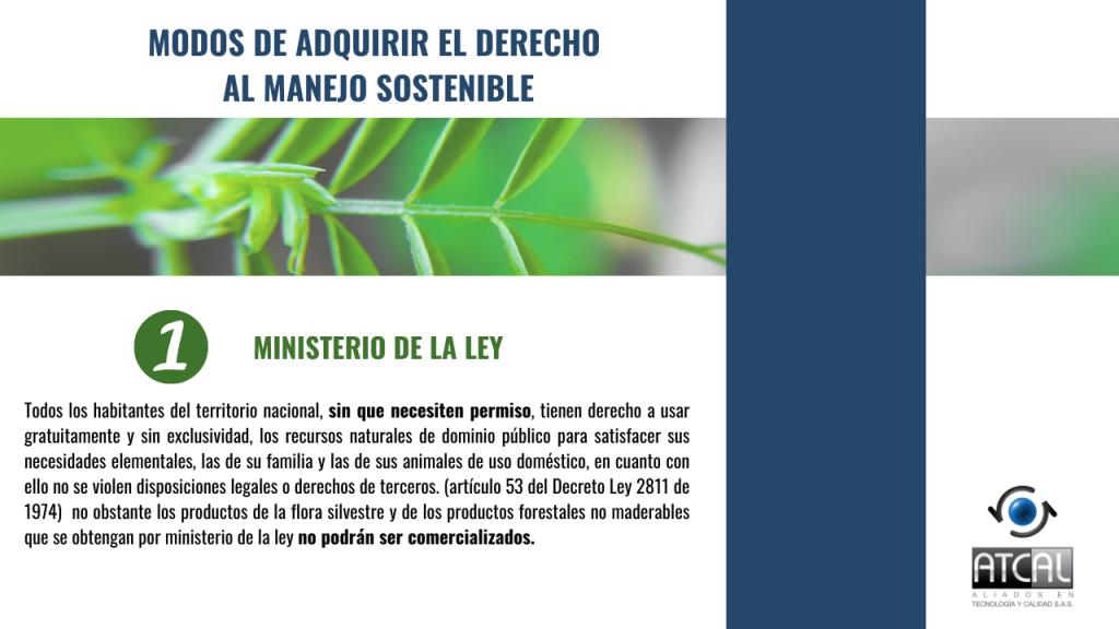 Modos de adquirir el derecho al manejo sostenible