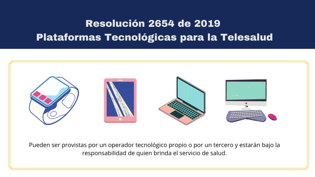 Resolución 2654 de 2019: Plataformas Tecnológicos para la TELESALUD